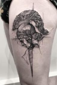 好看的一组9张欧美暗黑色纹身作品