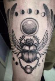 纹身黑色 多款黑色色调的小巧昆虫纹身图案