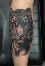 纹身老虎头图片  多款凶猛霸气的老虎头纹身图案