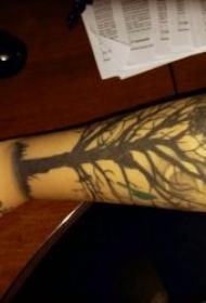 树纹身图案 身体各个部位的树干纹身图案和椰树纹身图案