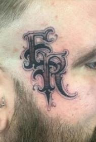 脸部纹身图案   9款霸气而又时尚的脸部英文纹身图案