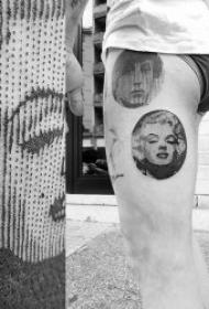 纹身电影人物图  创意的一组电影人物的小纹身图案
