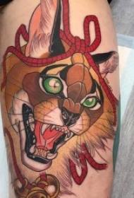 动物纹身图案 多款彩绘纹身形态与风格不同的动物纹身图案