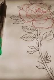 铅笔素描纹身手稿 一组十分精致的铅笔素描黑灰纹身素材