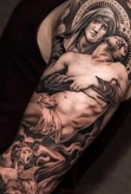 圣母纹身图  万古颂扬的圣母怜子纹身图案