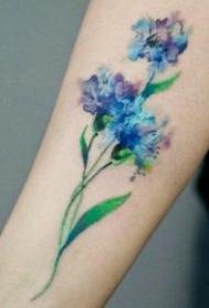 纹身图花朵 9款娇美而又花香袭人的花朵纹身图案