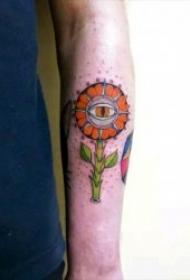 彩色创意纹身图案 一组有特色的彩色创意纹身图案
