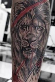 狮子纹身图案  10张百兽之王霸气的狮子纹身图案