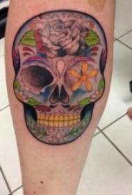 骷髅头纹身图案 十分另类的一组骷髅头纹身图案