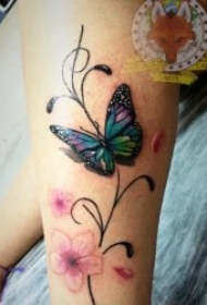 蝴蝶纹身图案 11张翩翩起舞的蝴蝶纹身图案
