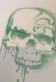 纹身手稿素材 黑灰色调铅笔素描纹身手稿素材