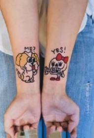 纹身情侣清新 适合做情侣纹身的一组小清新纹身图案