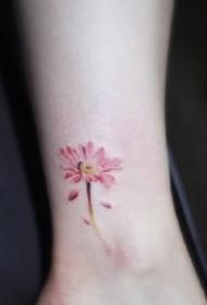 纹身脚腕小图 9张漂亮的脚腕处超小清新的纹身图片