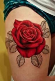 纹身玫瑰花图片 9张漂亮的玫瑰花主题纹身图案