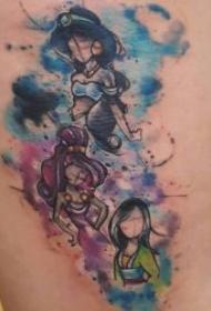 迪士尼公主纹身  高贵而又唯美的迪士尼公主系列纹身图案