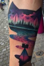 水彩纹身 漂亮的18组暗色彩绘纹身图案