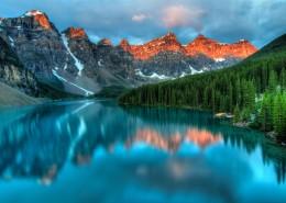 湖泊中的自然风景倒影图片(12张)