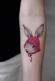 卡通风格的可爱小臂纹身小图片
