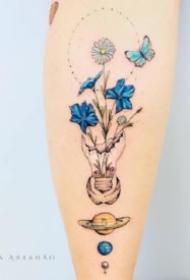 小清新纹身小臂 小臂上的一组唯美小清新纹身图案