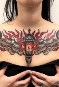 15款好看的胸部花胸纹身图案作品
