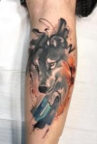 包臂水墨纹身 暗水彩风格的一组包臂纹身图片