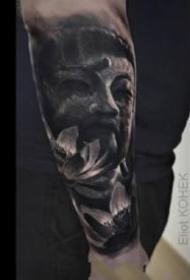 欧美超暗黑的写实骷髅等纹身图