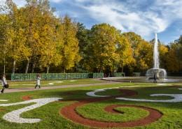 俄罗斯圣彼得堡夏宫下花园园林秋季风景图片(10张)