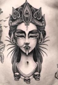 黑色点刺纹身 18组暗黑色的创意点刺纹身图案