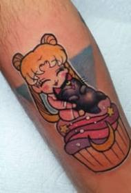 水冰月纹身 9张动漫美少女战士水冰月的卡通纹身图片