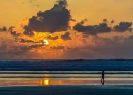 在海边看日落的人图片(11张)