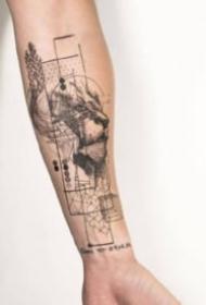 手臂线条纹身 18组创意的胳膊等部位线条纹身图片