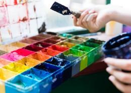 油画室彩色颜料图片(8张)