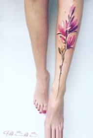 水彩色纹身 27款女孩子喜欢的小清新水彩色纹身图片