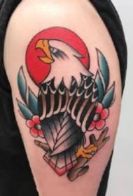 手臂上27款彩色纹身oldschool小臂纹身图片
