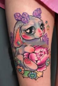 可爱兔子纹身 9张可爱的小兔子纹身图片