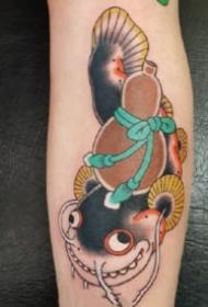 彩色的一组日式老传统纹身图片9张