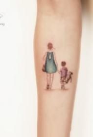 小清新的一组小臂简约纹身图案