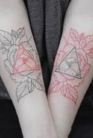 27款适合女生的小清新素花花卉纹身图案