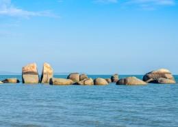 蔚蓝海滩自然风景图片(9张)