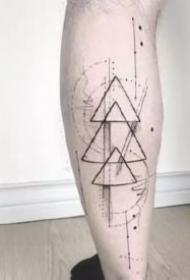几何纹身:27款几何图形主题的纹身图案和手稿