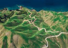 弯曲的山路图片(12张)