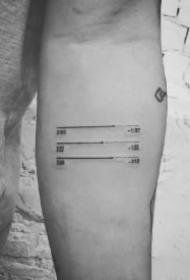 音乐播放暂停符号的一组纹身图片