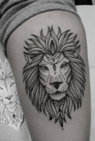 点线纹身 18款超帅气的适合男生的黑灰点线纹身