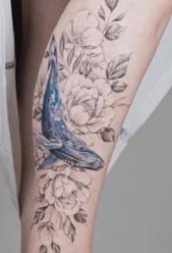 小臂素花纹身 9款女生小臂的小清新素花纹身图片