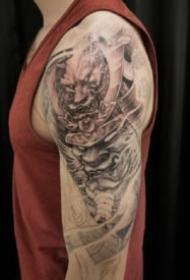 大臂传统纹身 9款传统的艺伎般若悟空等传统纹身图案