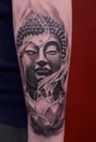 纹身佛头图案 9款庄严肃穆的佛像纹身图片