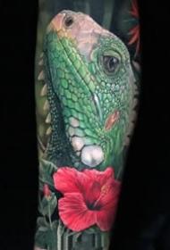 九款欧美写实彩色系男性手臂纹身图案