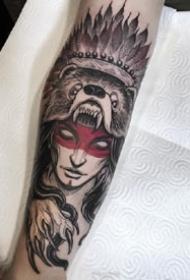 九款凶猛的野兽图案欧美花臂纹身