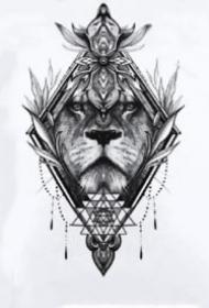 狮子座纹身 14款适合十