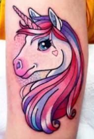 很可爱的一组彩色卡哇伊卡通纹身图片